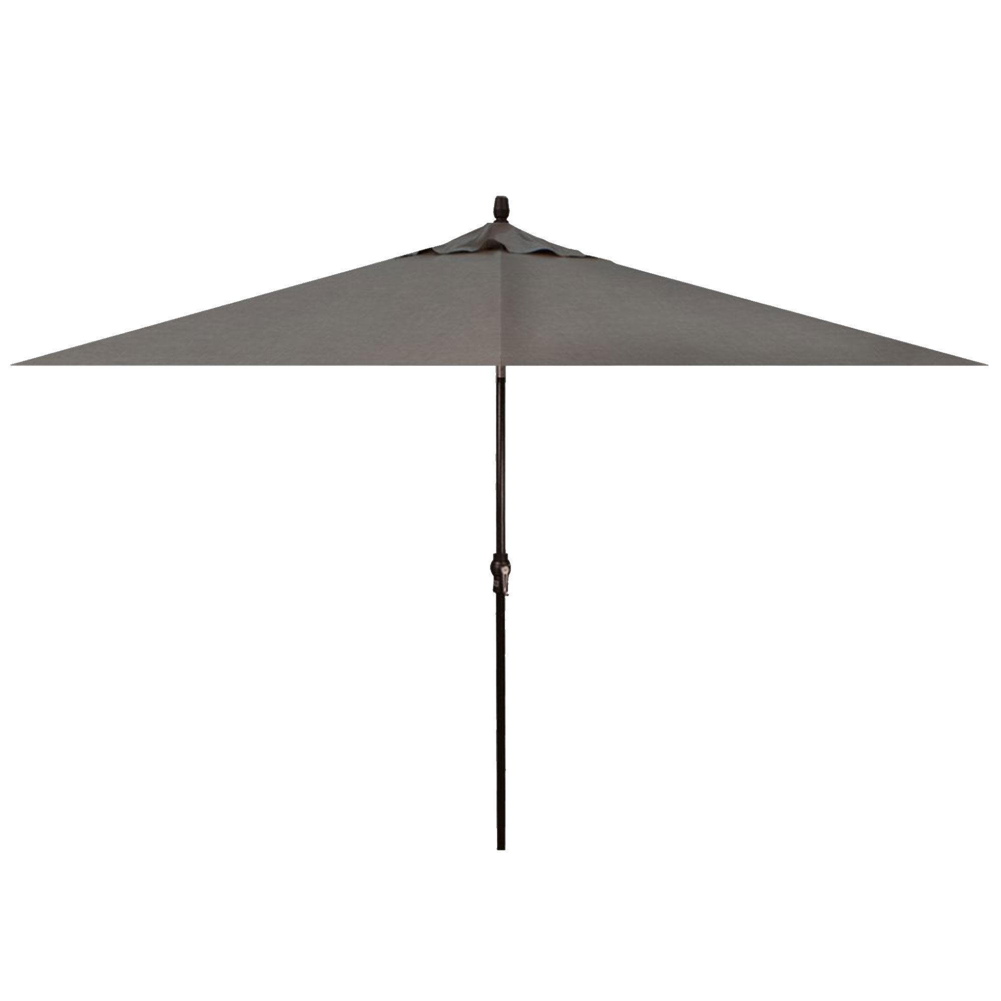 Treasure Garden 8x10' Auto Tilt Cast Slate Rectangle Umbrella  - Black/Cast Slate - Size: One Size