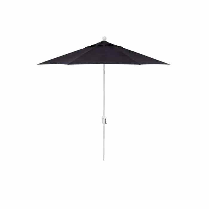 Treasure Garden 9' Push Button Tilt Octagon Umbrella with Aluminum White Pole  - Forest Green/White - Size: One Size