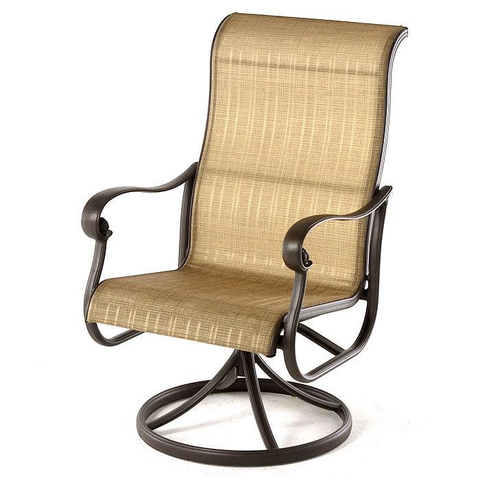 Hanamint Valbonne Swivel Rocker Dining Chair  - Bronze - Size: One Size
