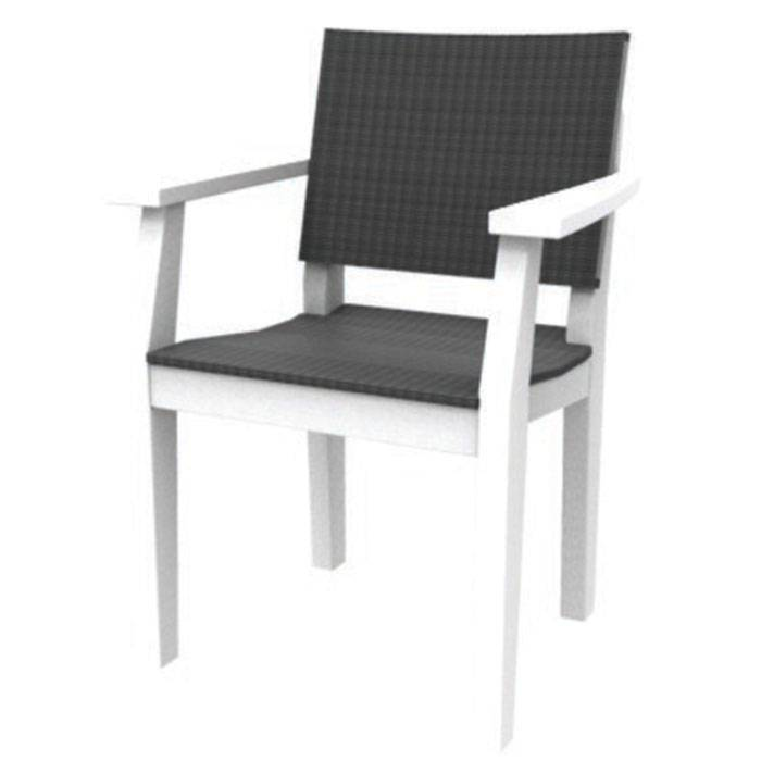 Seaside Casual Mad Fusion Dining Chair White  - White - Size: One Size