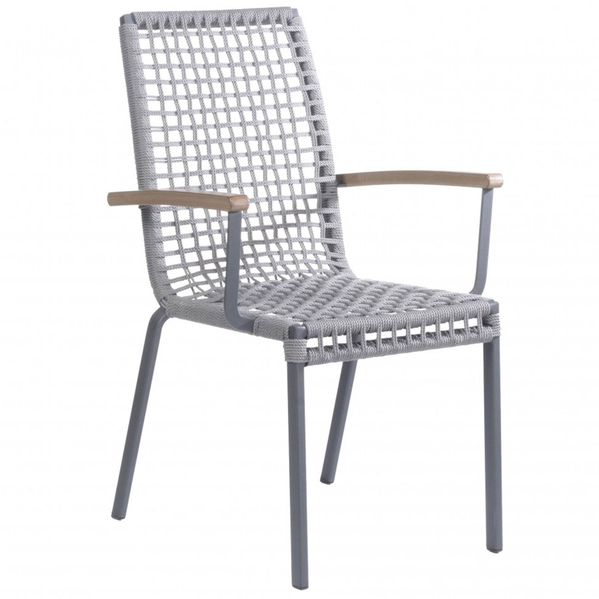 Alfresco Home Penelope Stackable Rope Dining Chair  - Aluminum - Size: One Size