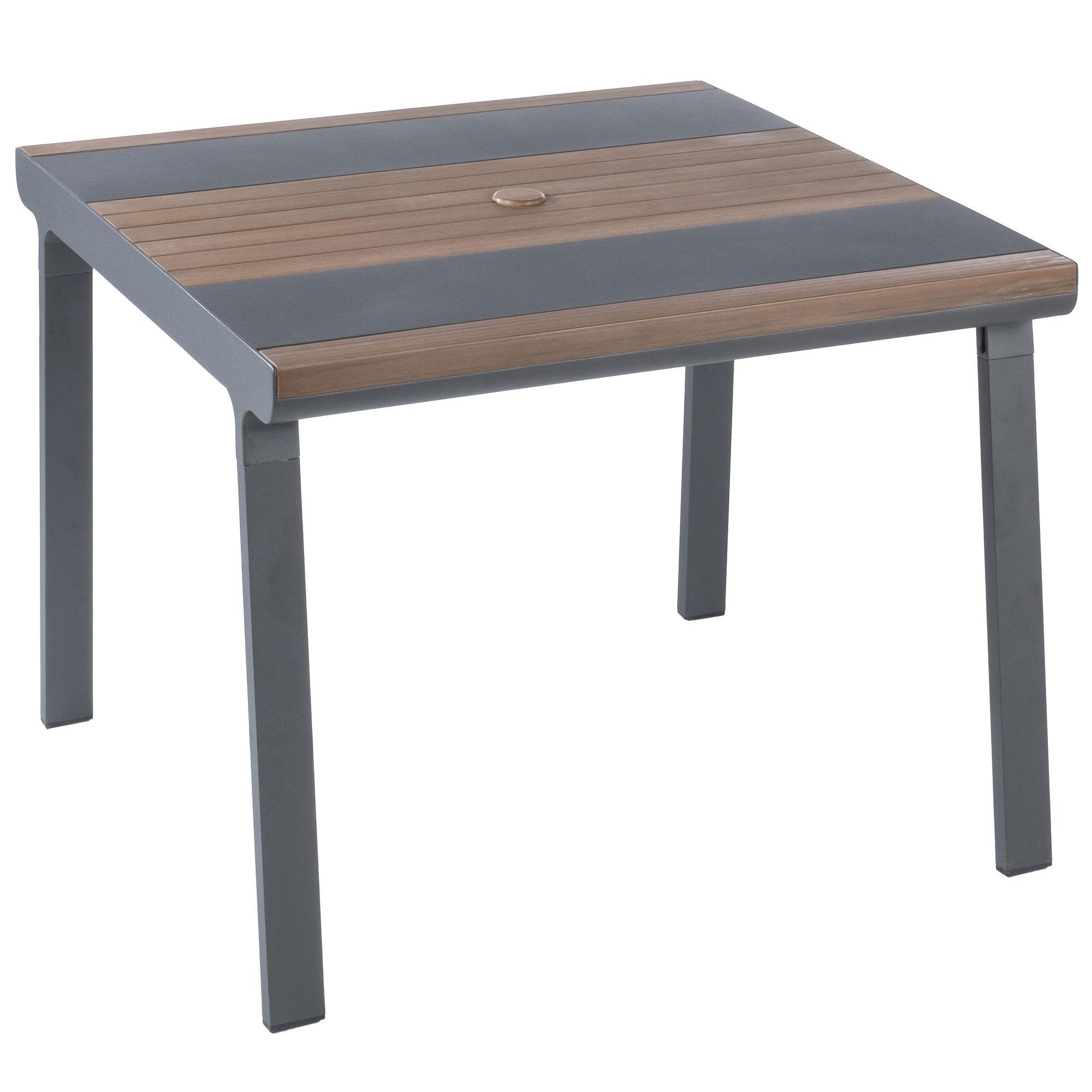 "Alfresco Home Copenhagen 40"" Square Dining Table  - Aluminum - Size: One Size"