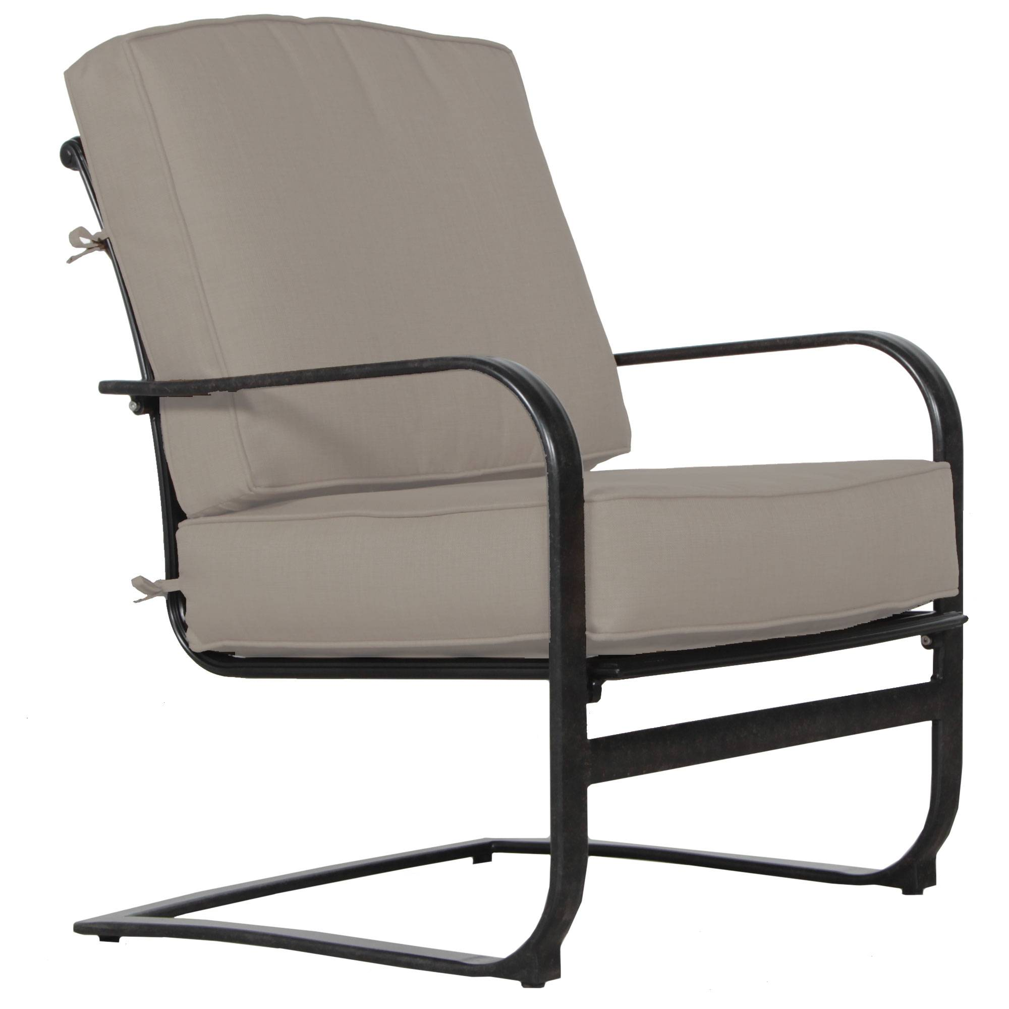 Alfresco Home Lisbon Lounge Chair with Cushion  - Black/Ash - Size: One Size