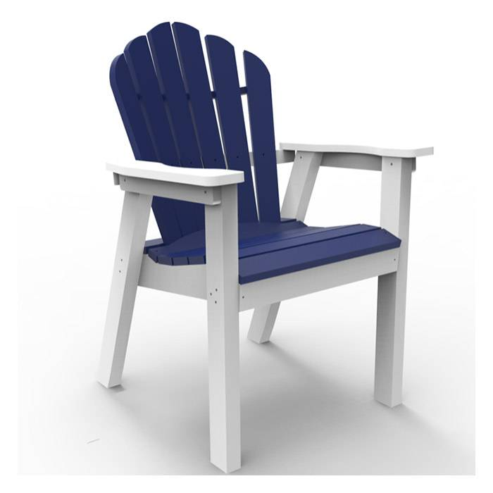 Seaside Casual Adirondack Classic 2 Tone Dining Chair  - White/Charcoal - Size: One Size