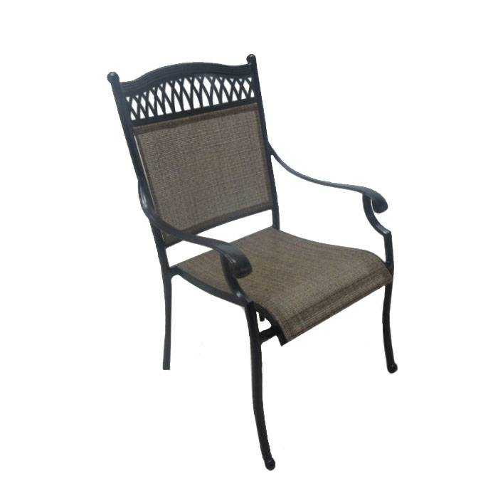 Casual Classics Charleston Sling Dining Chair  - Bronze - Size: One Size