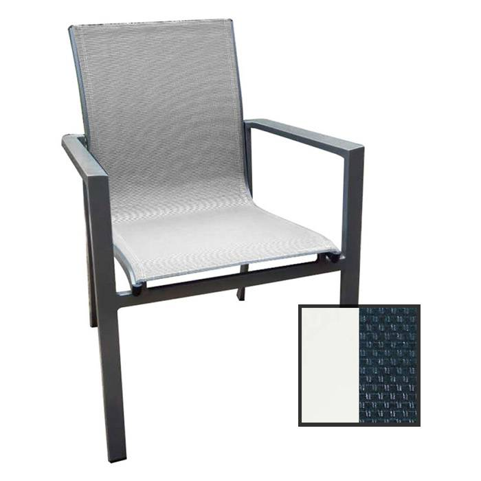 North Cape Rio True White Dining Chair  - Navy Blue/True White - Size: One Size