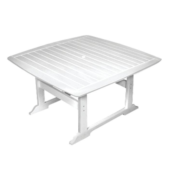 """Seaside Casual Portsmouth 56"""" Dining Table  - White - Size: One Size"""