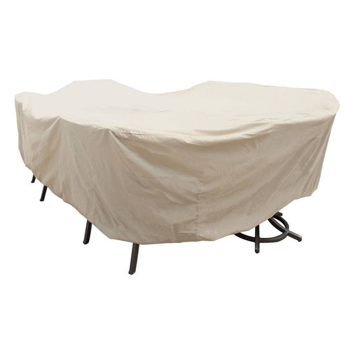 Treasure Garden X-Large Oval/rectangle Table And Chairs Cover  - Tan - Size: One Size