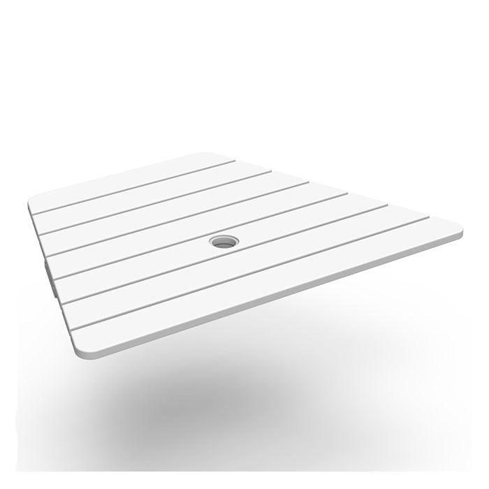 Seaside Casual Tete-a-tete Adirondack Table Accessory  - White - Size: One Size
