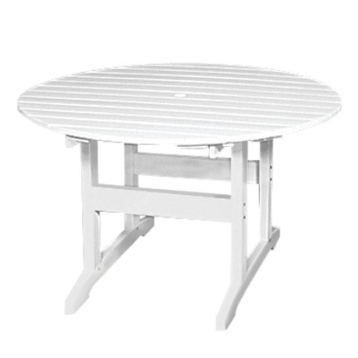 """Seaside Casual Salem 48"""" Round Dining Table  - White - Size: One Size"""