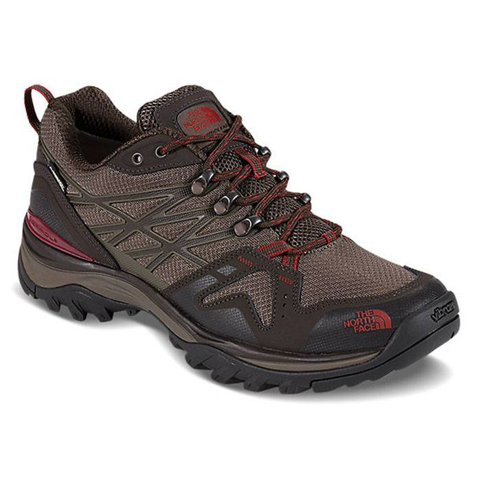 The North Face Men's Hedgehog Fastpack Gtx Hiking Shoes  - Coffee Brown/Rosewood Red - Size: 11.5
