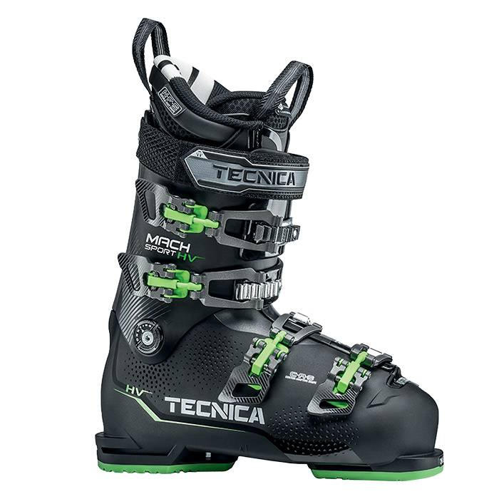 Tecnica Men's Mach Sport EHV 120 All Mountain Ski Boots '20  - Black - Size: 28.5