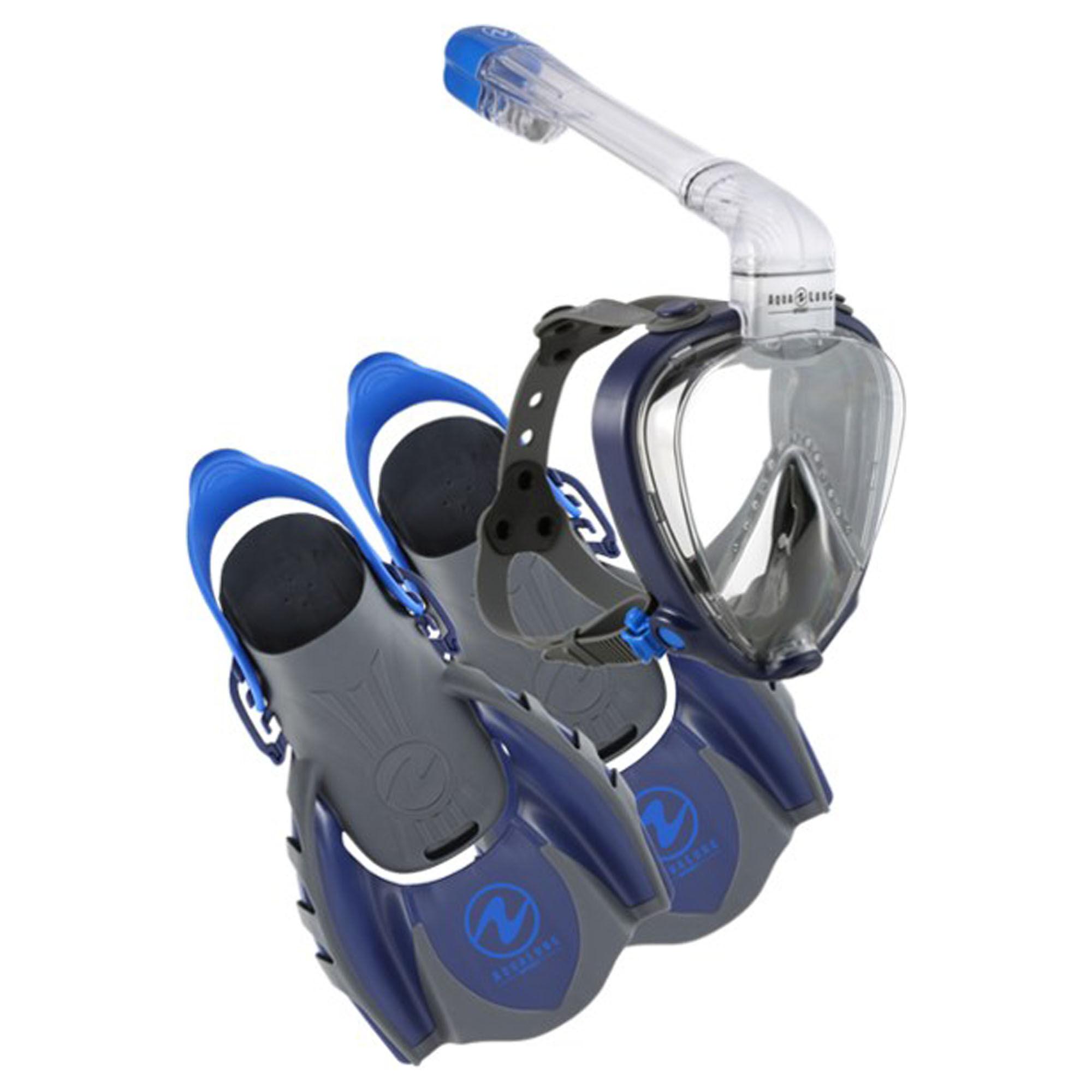 Aqua Lung Sport Smartsnorkel Set  - Navy - Size: Medium