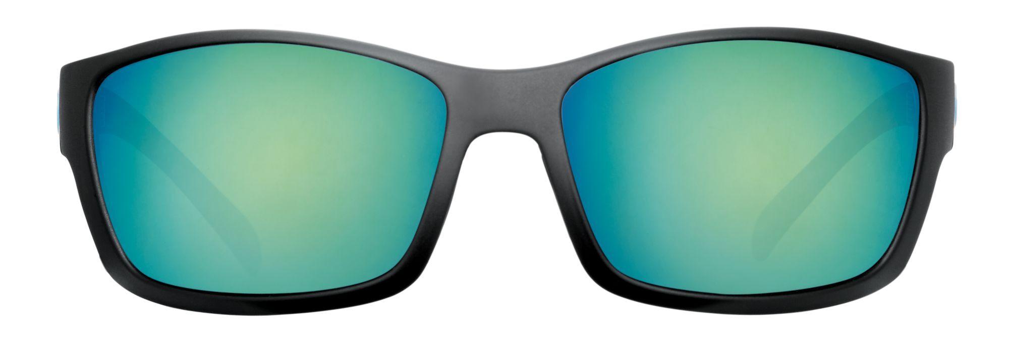 Blue Otter Polarized Blue Otter Oconee Polarized Sunglasses, Matte Black/Deep Green