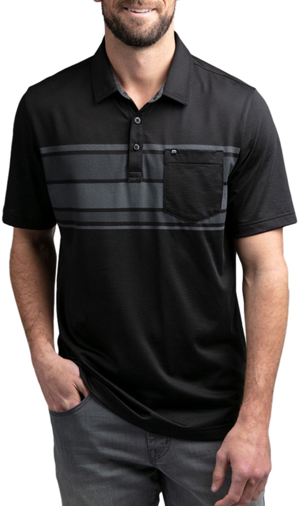 TravisMathew Men's Casual Dining Golf Polo, Medium, Black
