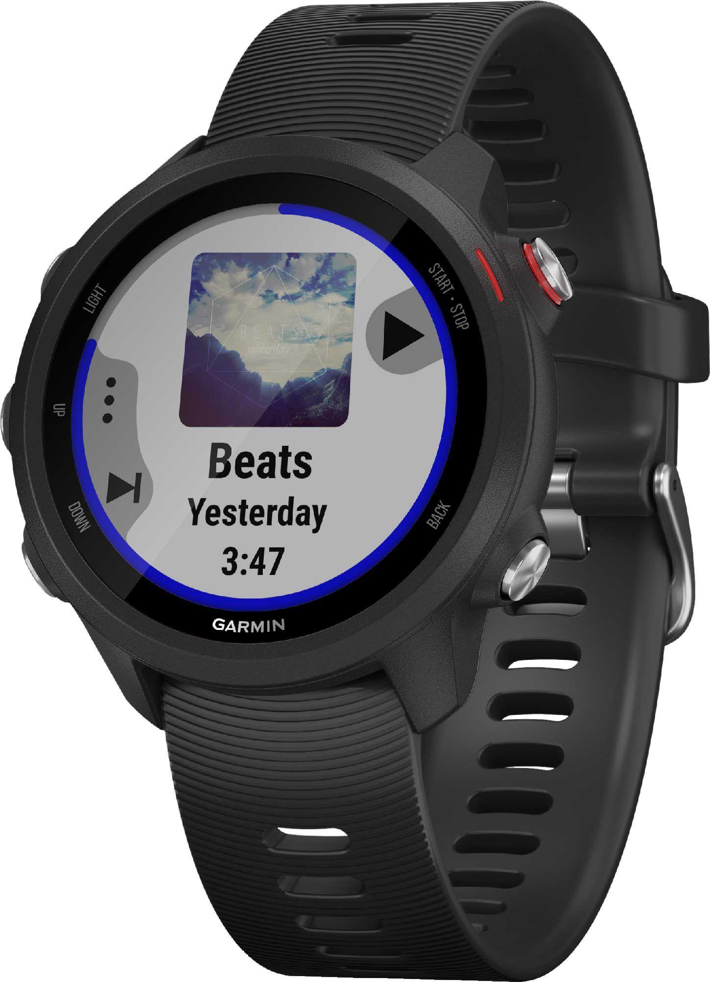 Garmin Forerunner 245 Music GPS Running Smartwatch, Black
