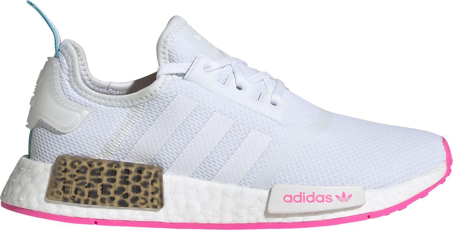 adidas Kids' Grade School NMD_R1 Shoes, Boys', White