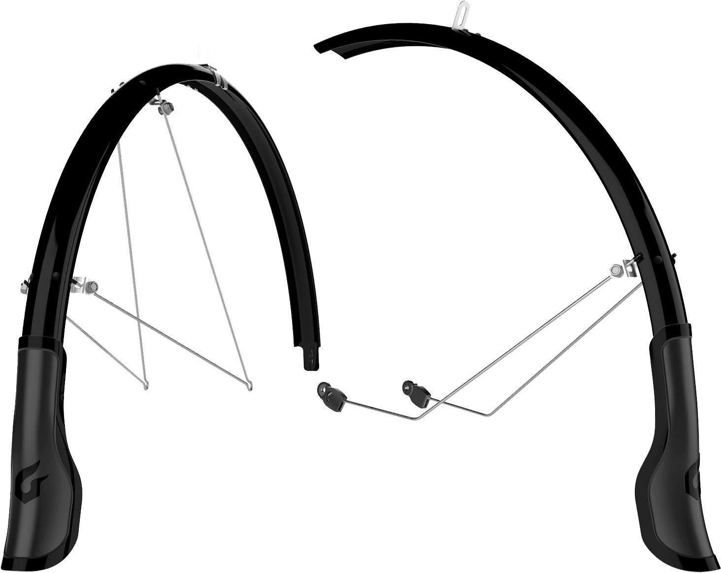 Blackburn Central Front and Rear Full Bike Fender Set, 700cx60mm, mud