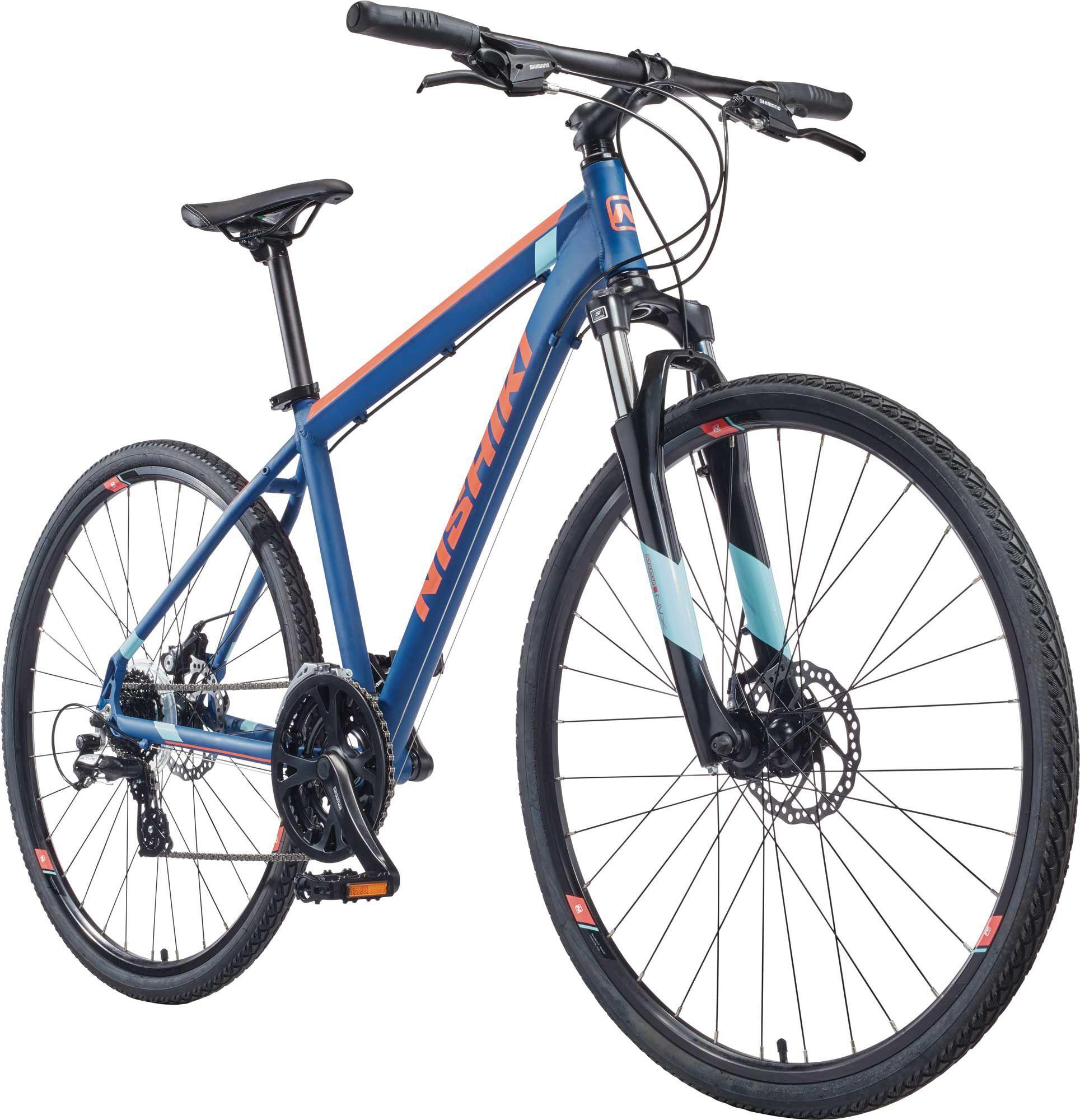 Nishiki Women's Anasazi Hybrid Bike, Blue/Sky/Coral