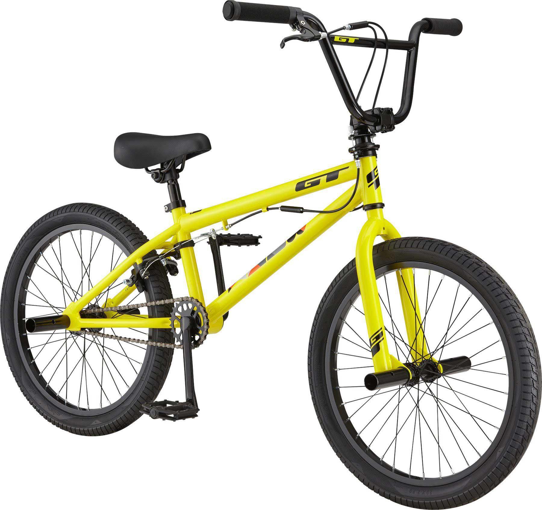 GT Kids' Bank BMX Bike, 20 IN., Yellow