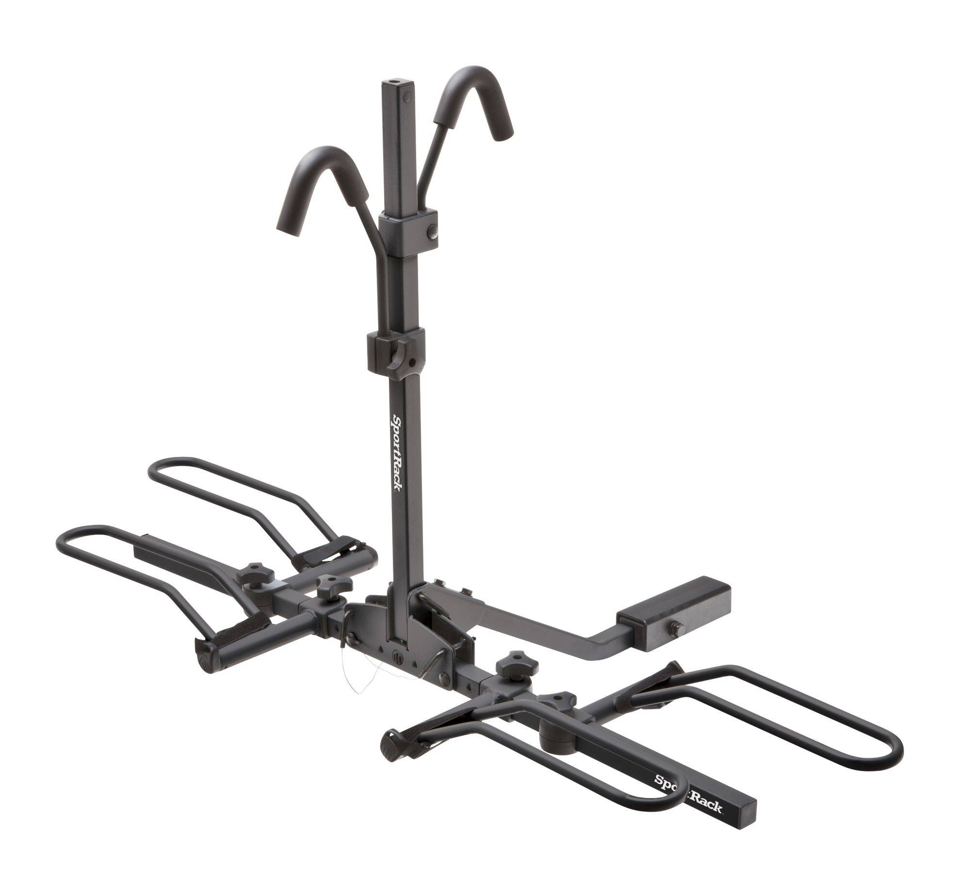 SportRack Crest 2 Hitch Mount 2-Bike Rack, Black