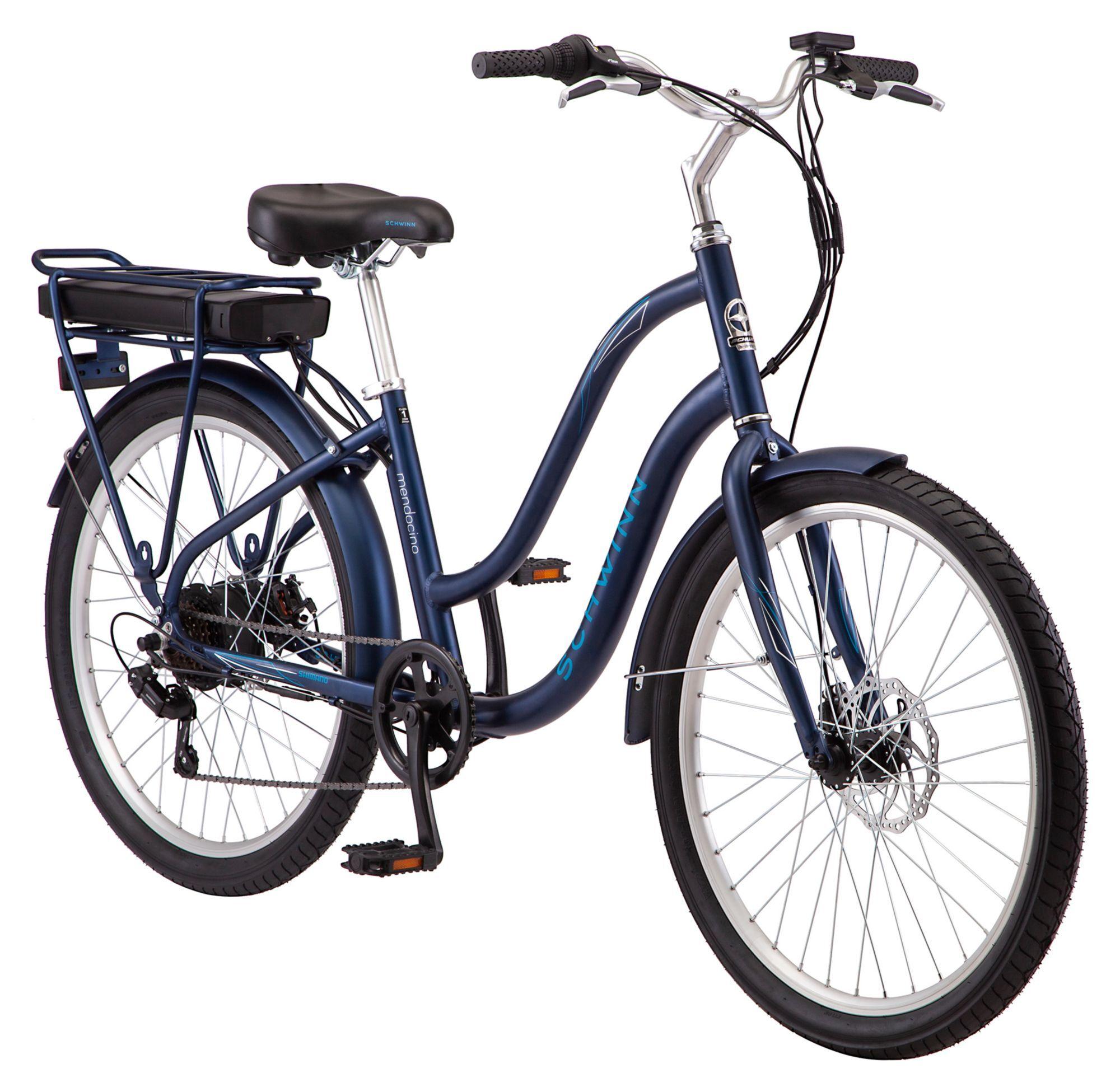 "Schwinn 26"" E-Mendocino Electric Bike, Blue"