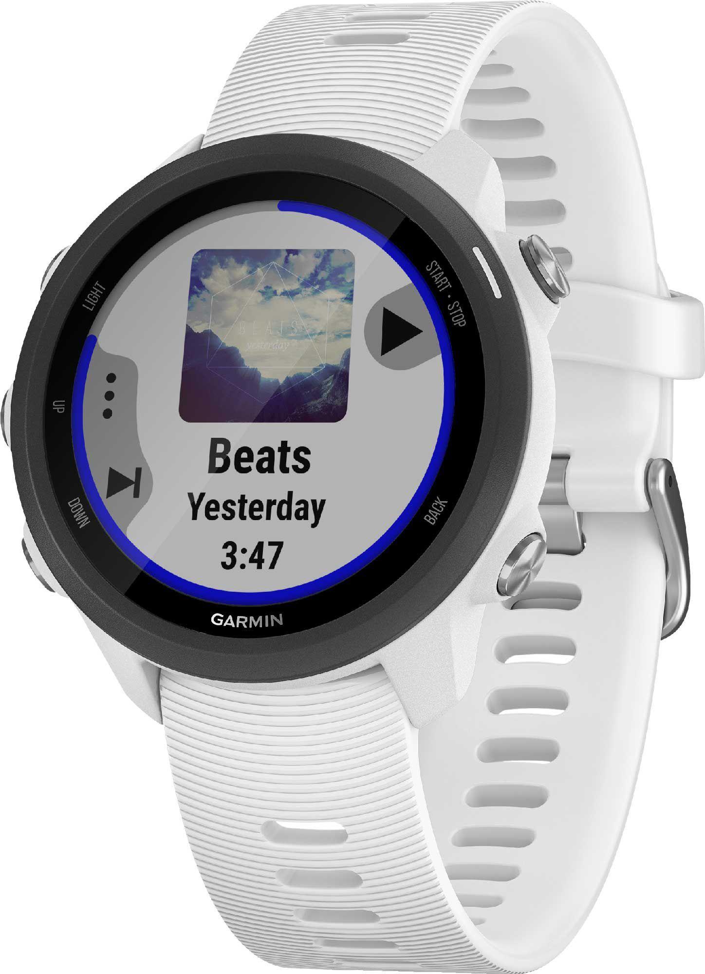 Garmin Forerunner 245 Music GPS Running Smartwatch, White