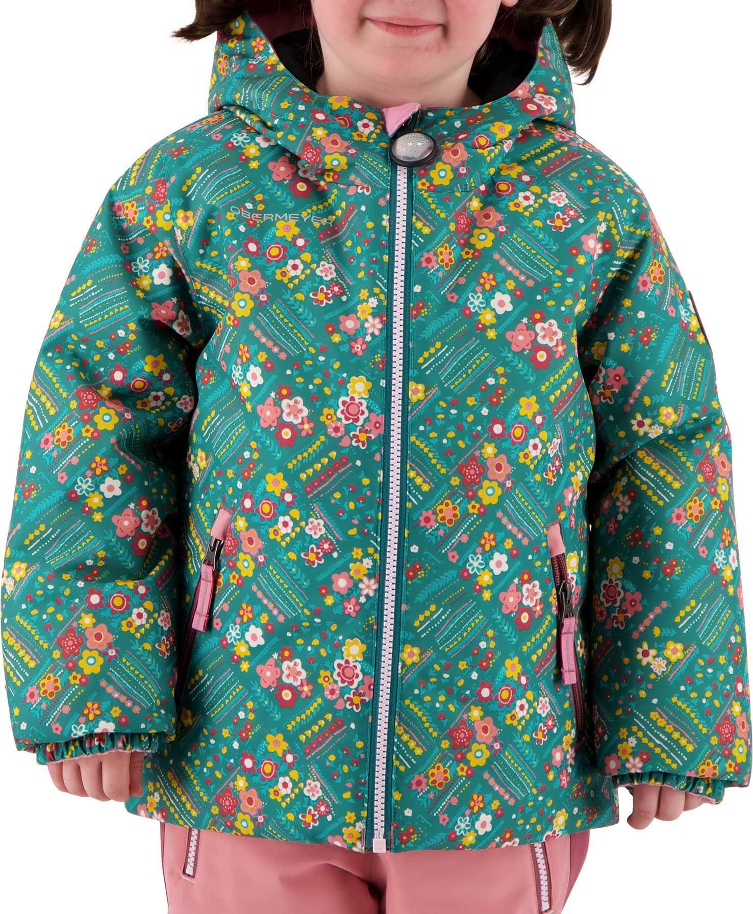 Obermeyer Youth Ash Winter Jacket, Girls', Size 4, Garden Patch