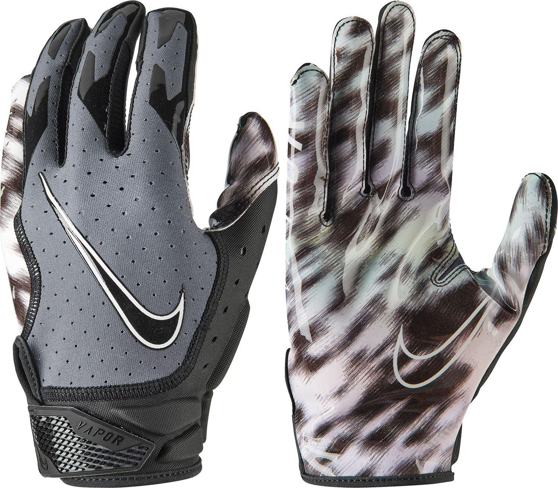 Nike Adult Vapor Jet 6.0 Receiver Gloves, Large, Dark Grey/Black