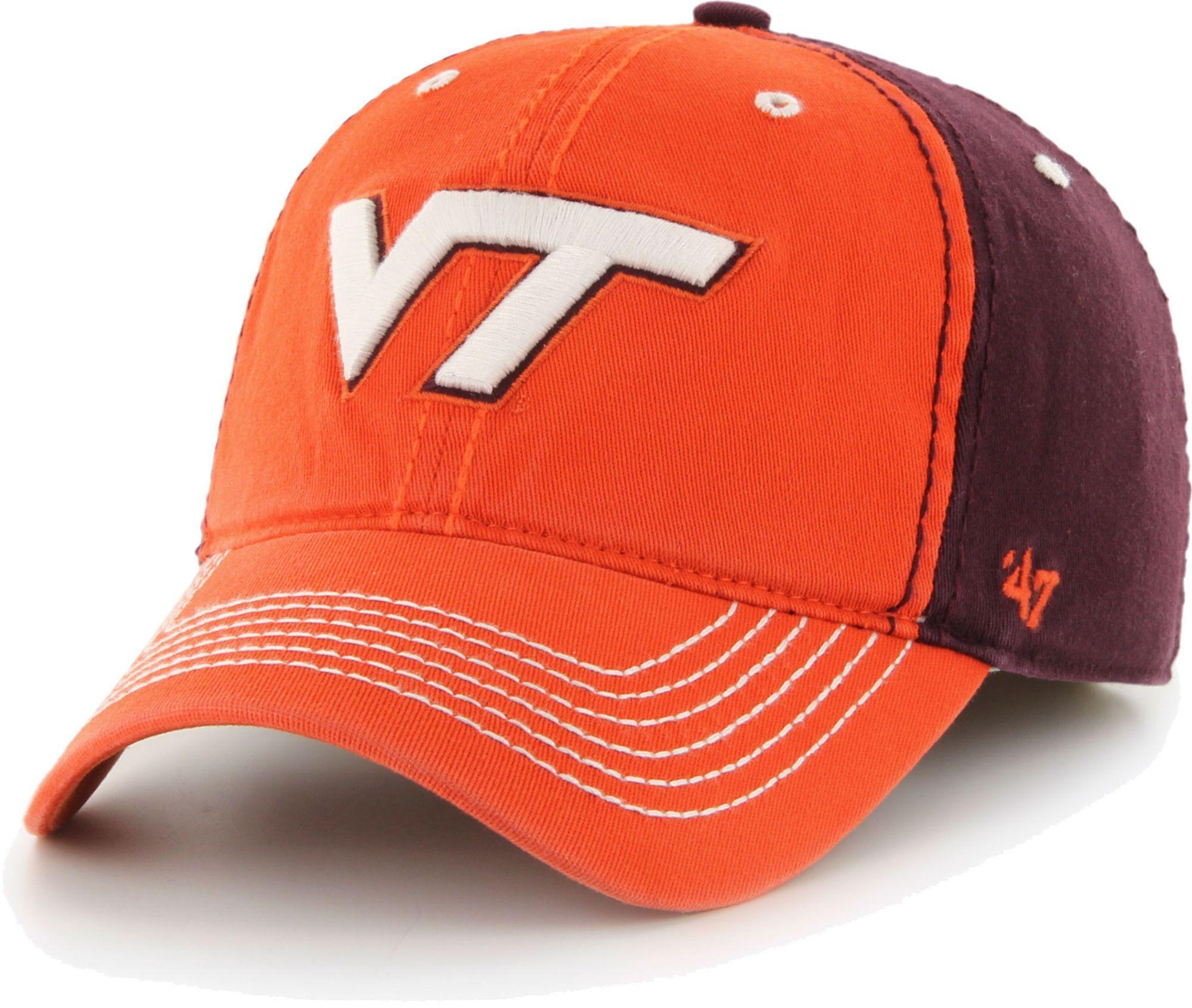 '47 '47 Men's Virginia Tech Hokies Burnt Orange Phase Flexfit Hat, Red