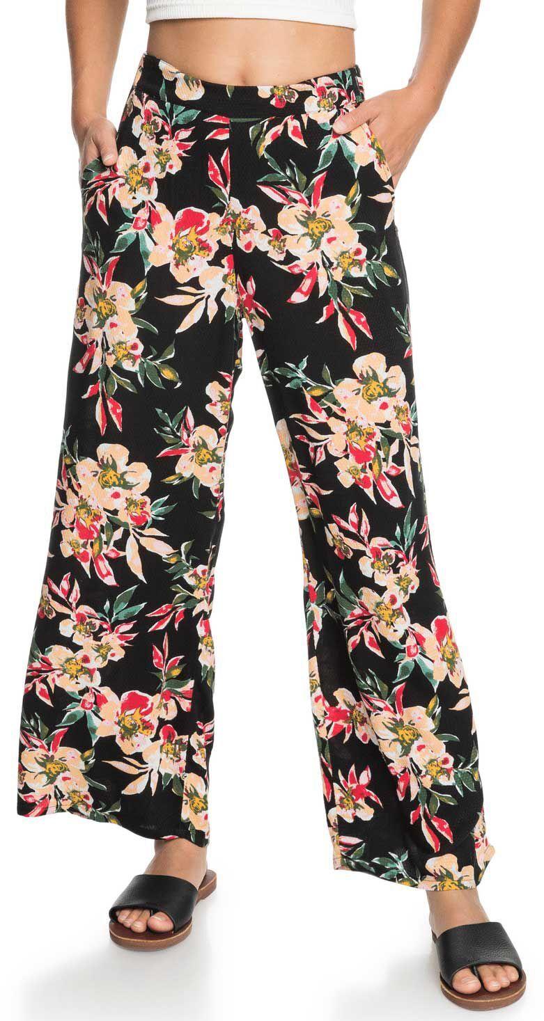 Roxy Women's Midnight Avenue Dobby Pants, Small, Anthracite Wonder Garden