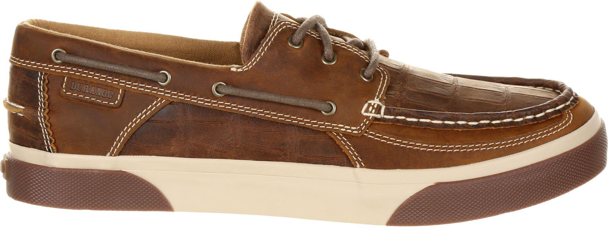 Durango Men's Music City Gator Western Boat Shoes, Brown