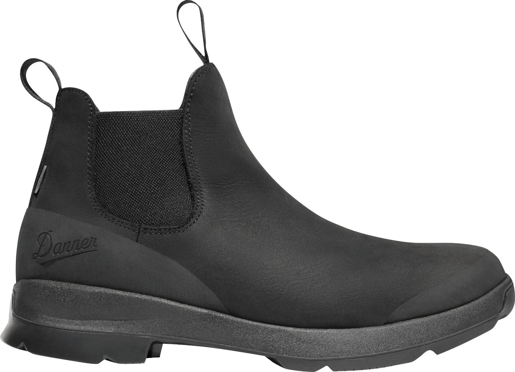 Danner Men's Pub Garden 4.5'' Chelsea Waterproof Hiking Boots, Black