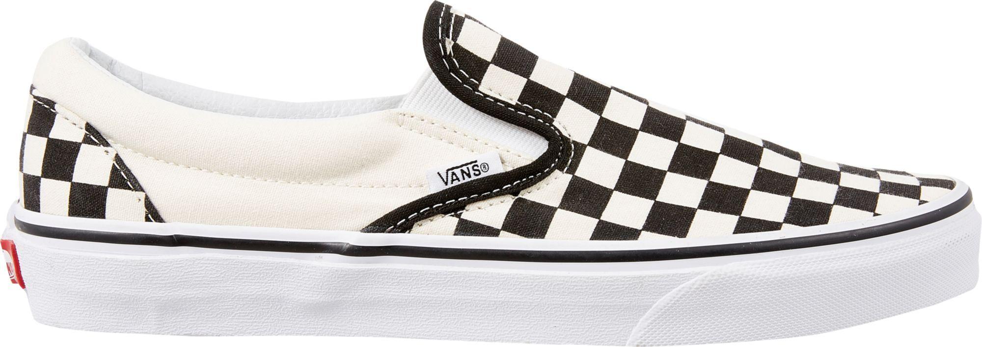 Vans Checkerboard Slip-On Shoes, Women's, Black