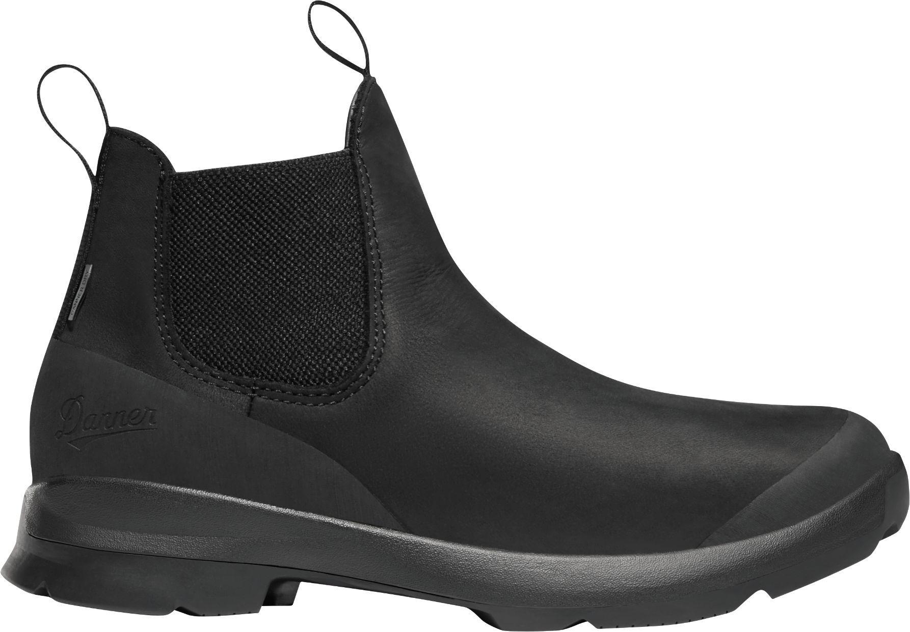 Danner Women's Pub Garden 4.5'' Chelsea Waterproof Work Boots, Black