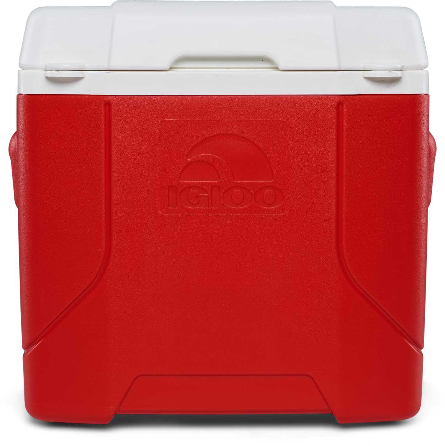 Igloo Profile 30 Quart Rolling Cooler, Red