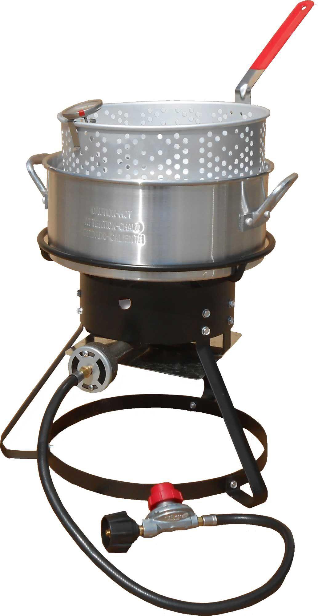 King Kooker 10-Quart Outdoor Cooking Package, aluminum