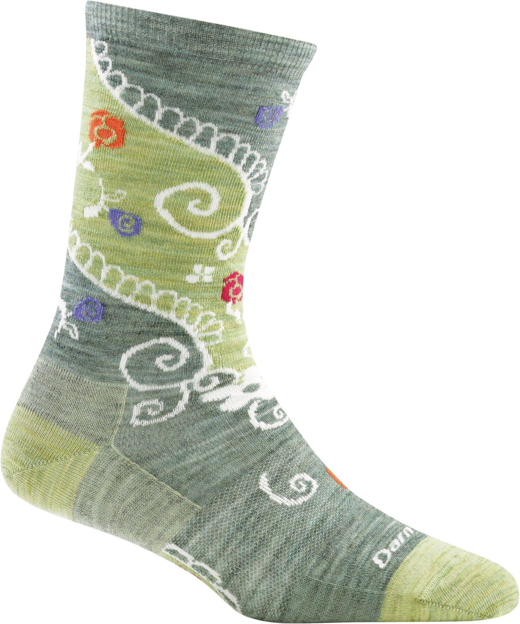 Darn Tough Women's Twisted Garden Crew Socks, Small, Green