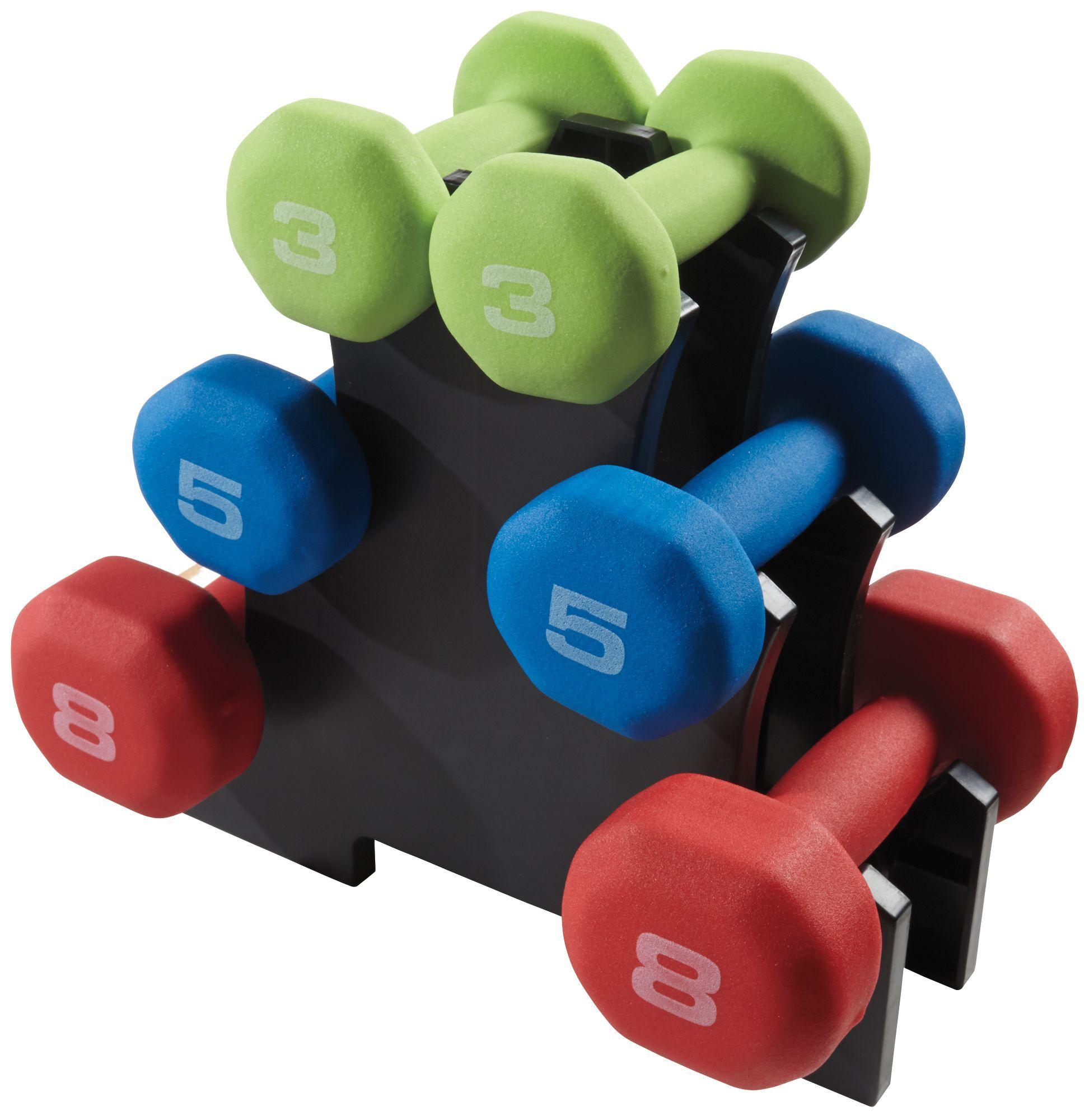 Fitness Gear 32 lb. Neoprene Dumbbell Kit, Black