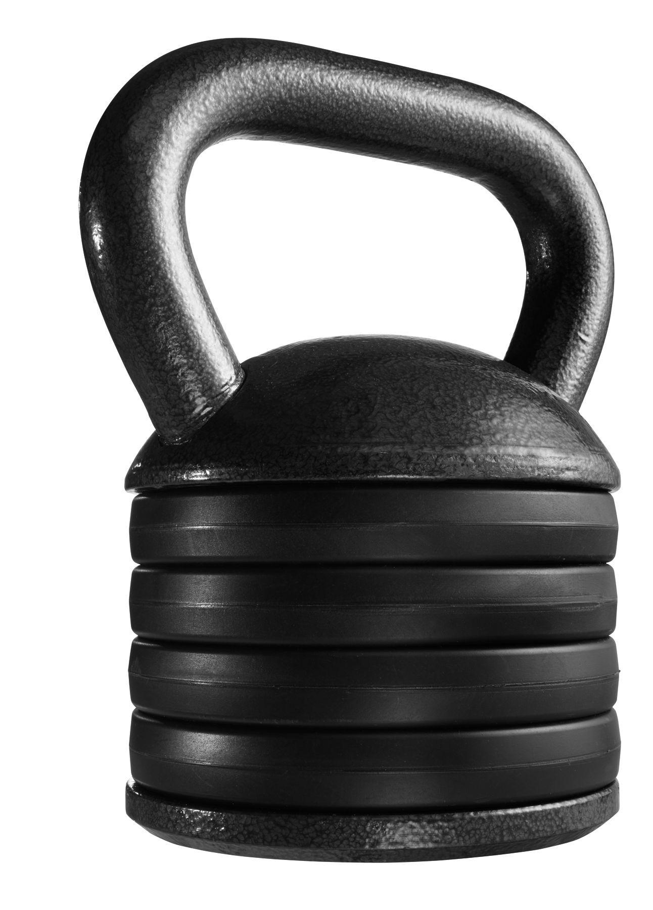 Fitness Gear Adjustable Kettlebell, Black