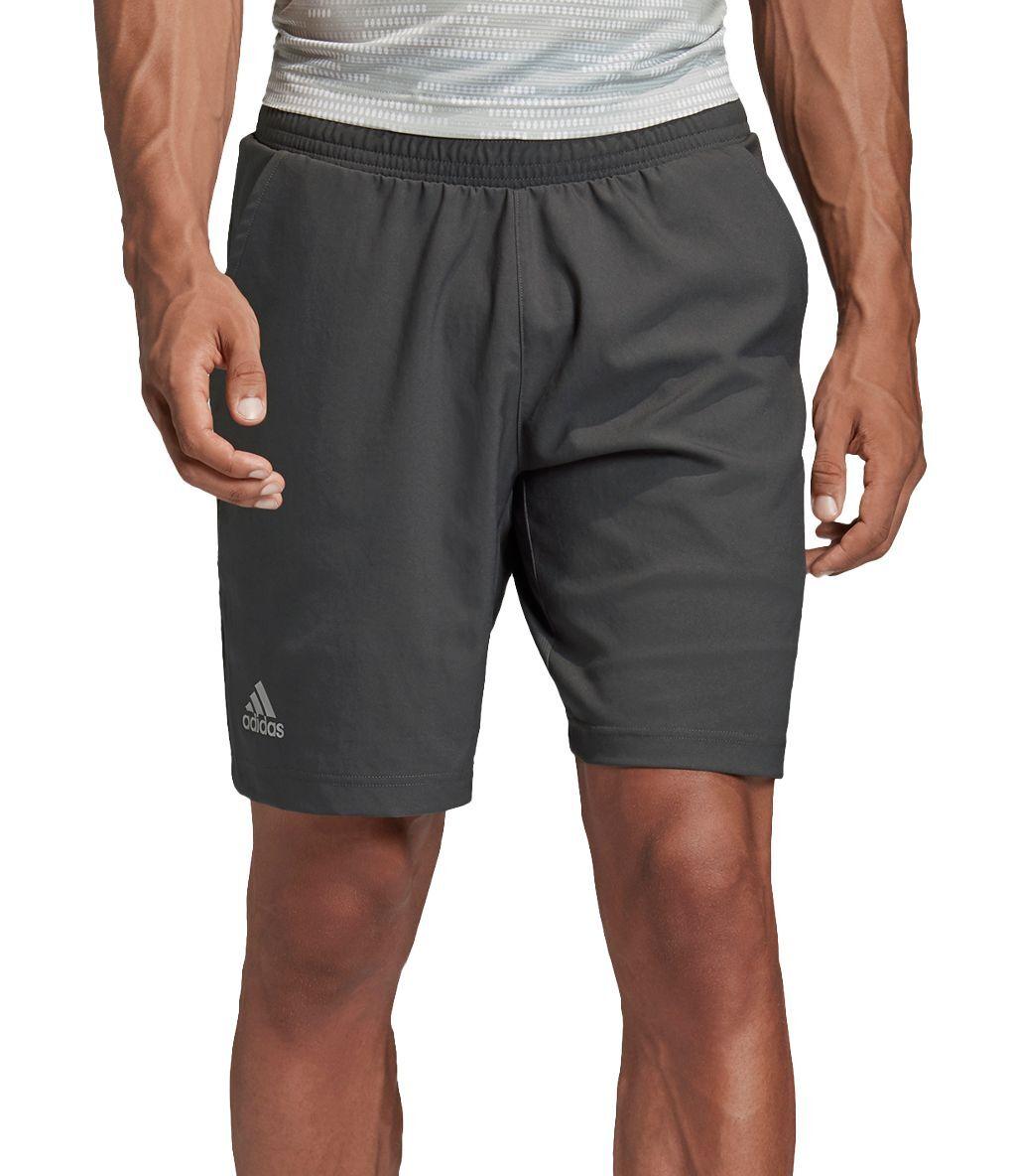 adidas Men's Primeblue Tennis Shorts, Small, Gray