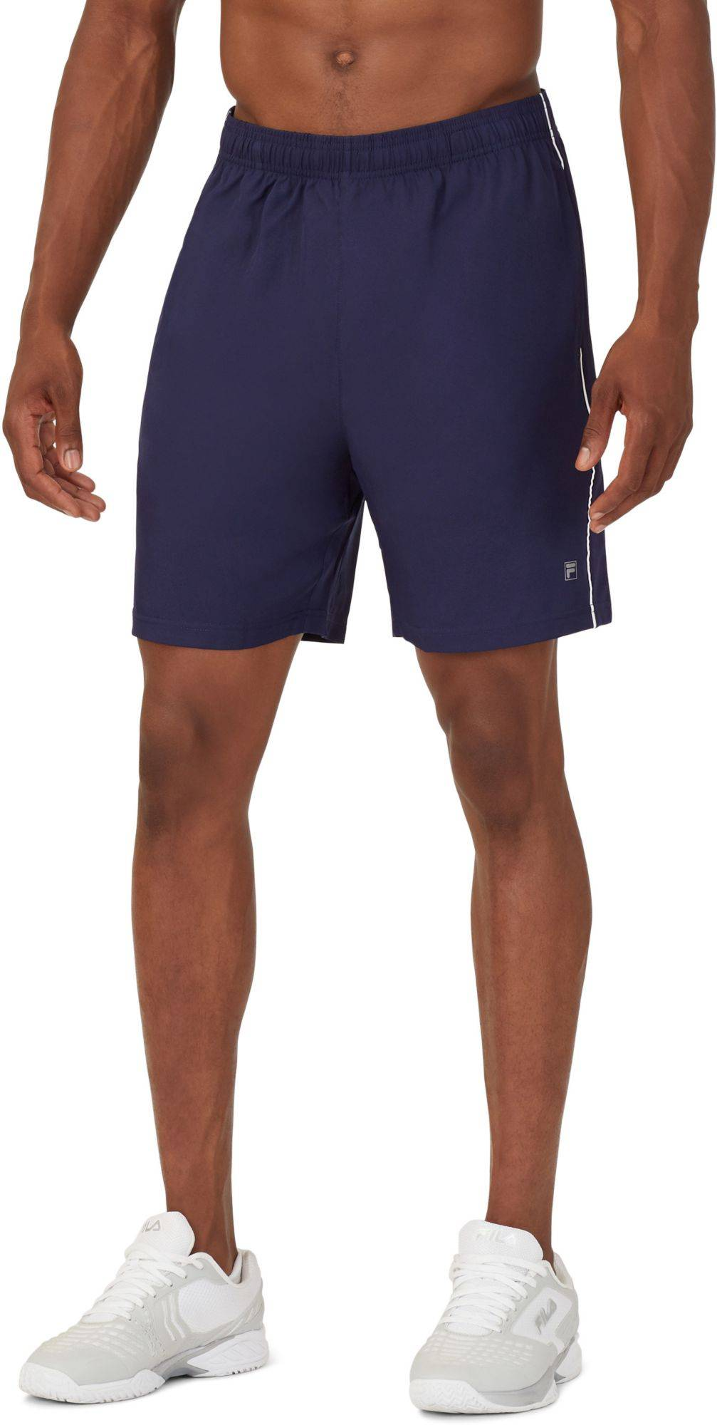 "Fila Men's Core 7"" Tennis Shorts, Small, Blue"