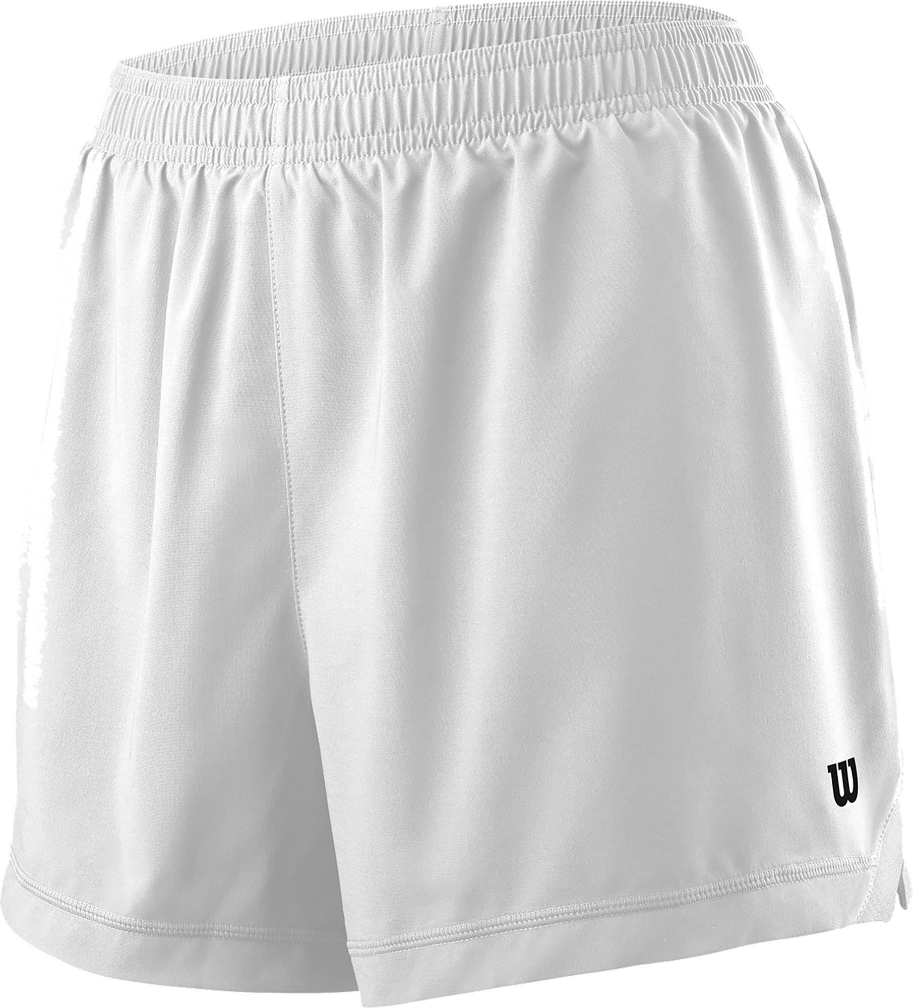 Wilson Women's Team 3.5'' Tennis Shorts, Small, White