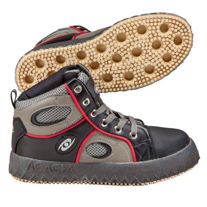 Acacia Sports Grip-Inator Broomball Shoes, Size 8, Gray