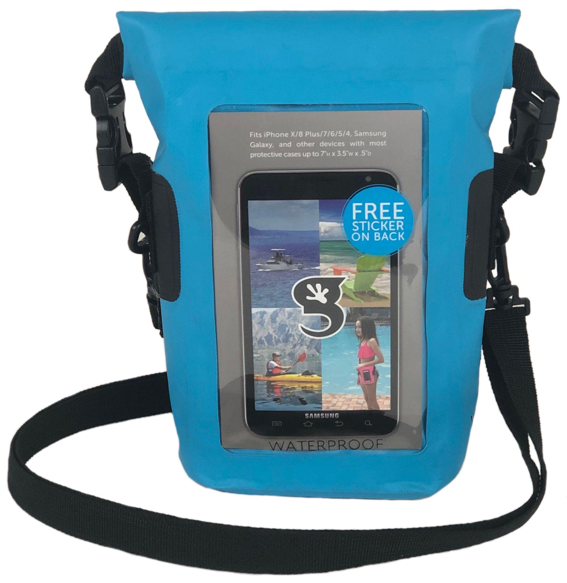 geckobrands Waterproof Phone Tote, Blue