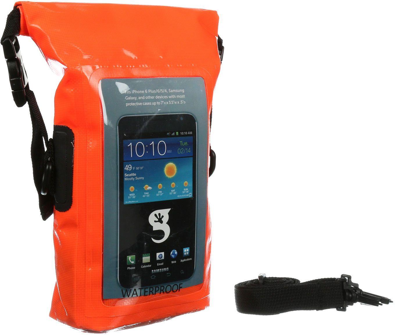 geckobrands Waterproof Phone Tote, Orange