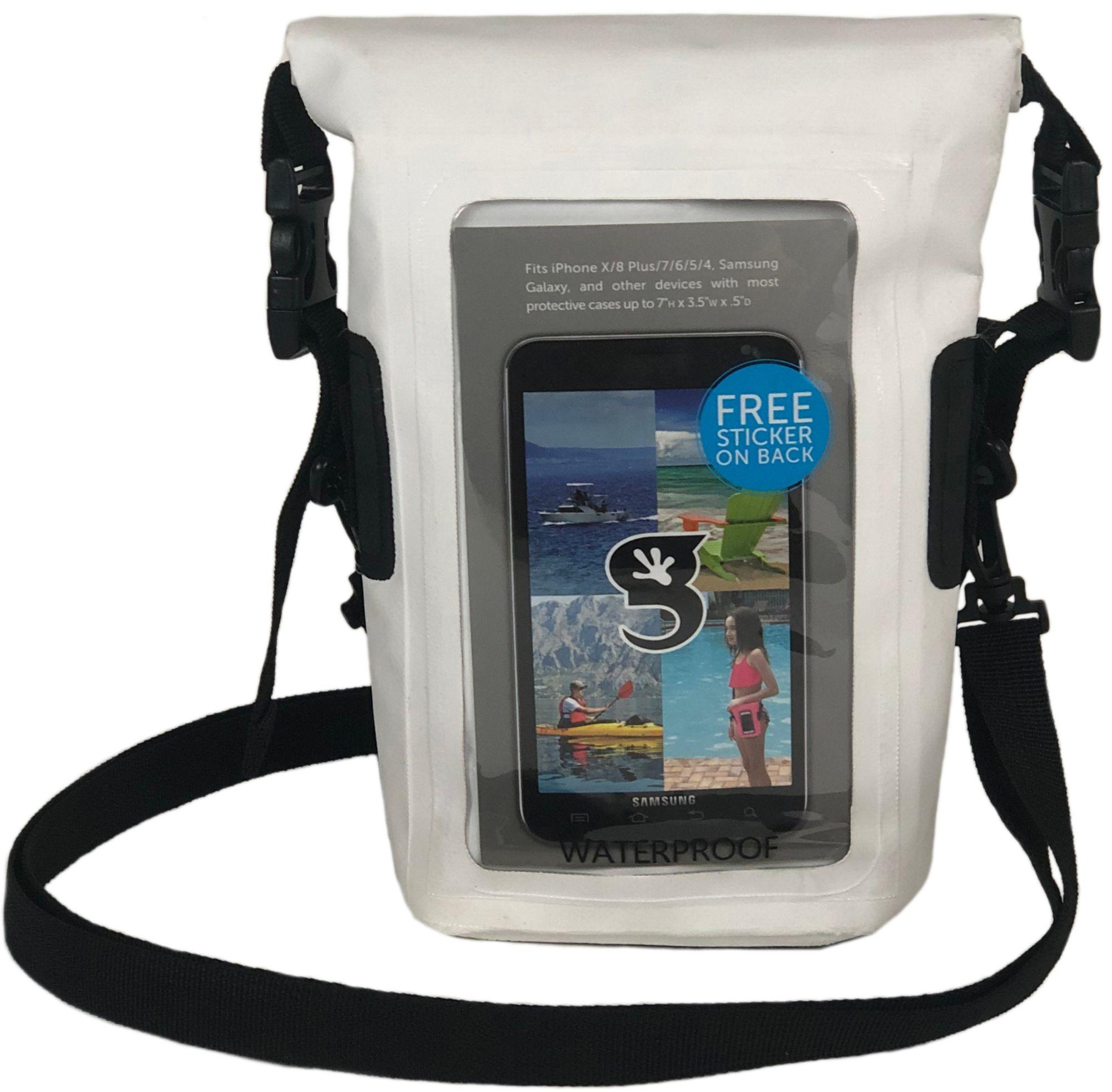 geckobrands Waterproof Phone Tote, White