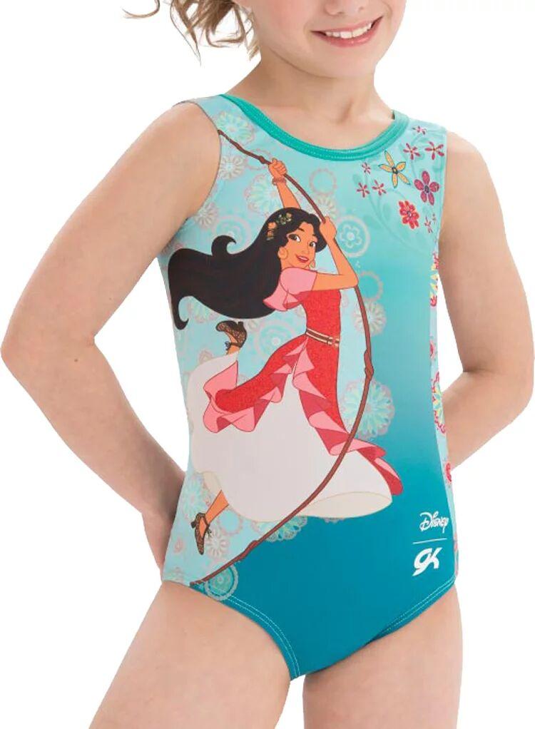GK Elite Youth Disney Elena's Adventure Gymnastics Leotard, Girls', Large, Green