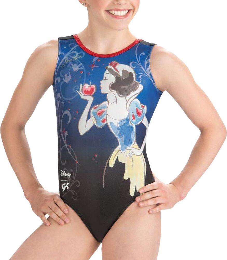 GK Elite Disney Snow White Gymnastics Leotard, Women's, Medium, Black