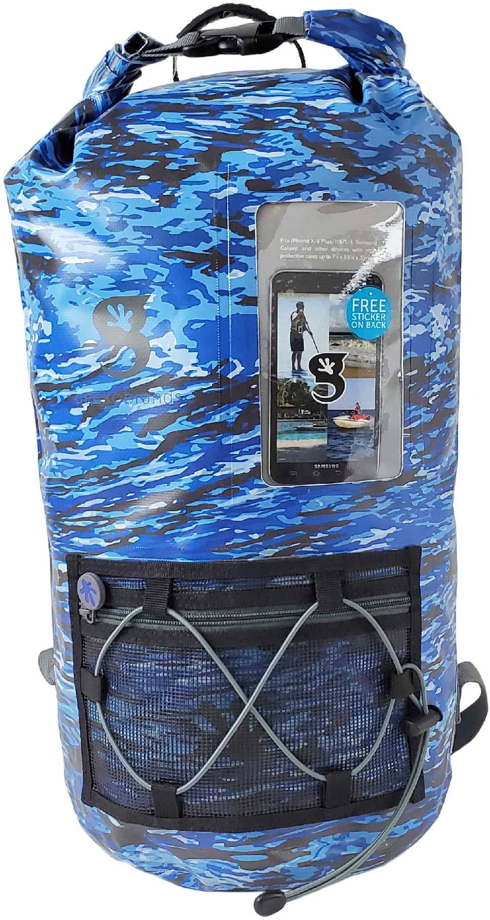 geckobrands Waterproof Hydroner Backpack with Clear Phone Compartment, Multi
